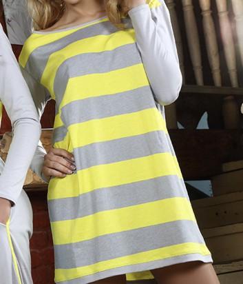 Ночная рубашка Pigeon 402 в ярко-желтую полоску