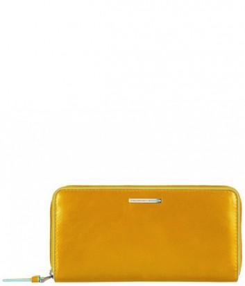 Женское портмоне Piquadro Blue Square PD3229B2_G на молнии желтое
