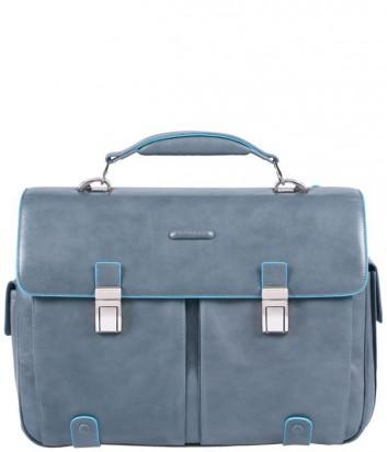 Портфель Piquadro Blue Square CA1068B2_GR2 на два отделения серый