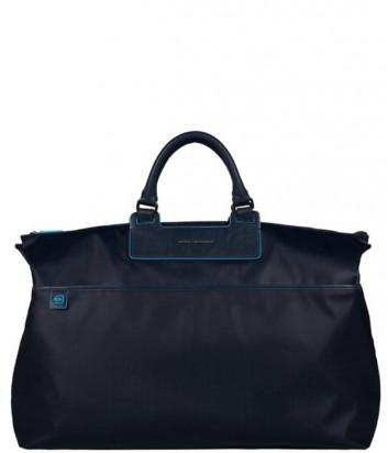 Дорожная сумка Piquadro Aki BV2983AK_BLU с плечевым ремнем синяя