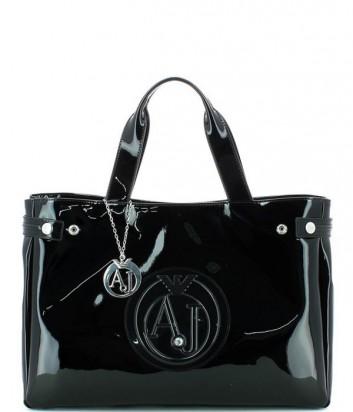 Сумка-шоппер Armani Jeans 0529155 глянцевая черная