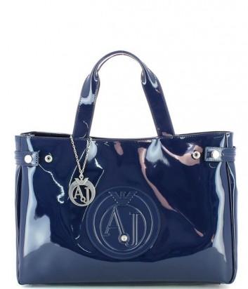 Сумка-шоппер Armani Jeans 0529155 глянцевая темно-синяя