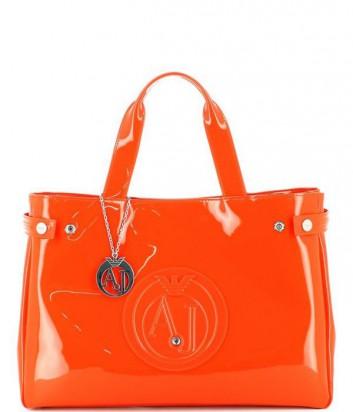 Сумка-шоппер Armani Jeans 0529155 глянцевая оранжевая