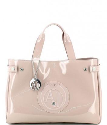 Сумка-шоппер Armani Jeans 0529155 глянцевая пудрово-розовая
