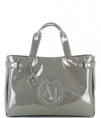 Сумка-шоппер Armani Jeans 0529155 глянцевая серая