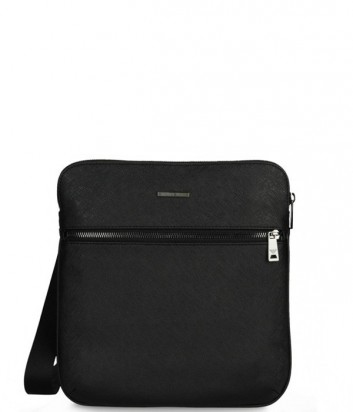 Мужская сумка Armani Jeans 0621MT2 с фактурой сафьяно черная