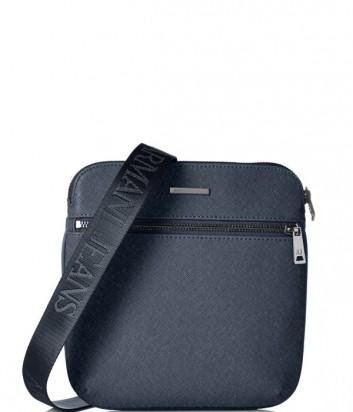 Сумка через плечо Armani Jeans 0622ZT2 с фактурой сафьяно синяя