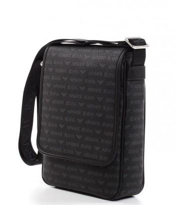 Сумка через плечо Armani Jeans 0622DJ4 с надписями бренда черная