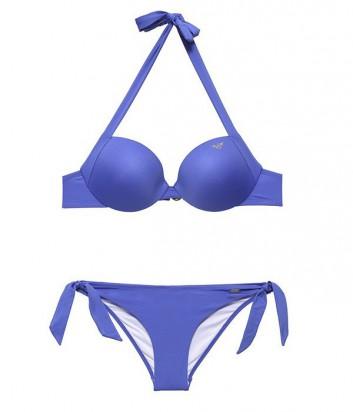 Купальник EA7 Emporio Armani бюст с уплотненной чашкой и плавки синий