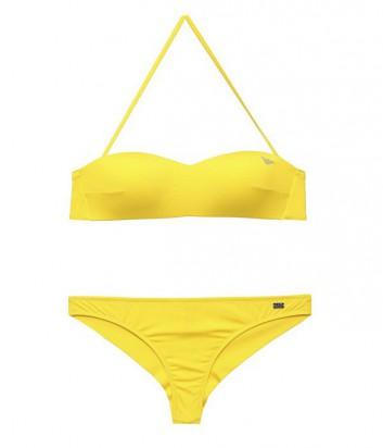 Купальник EA7 Emporio Armani бюстгальтер-бандо и плавки ярко-желтый