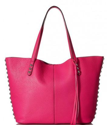 Кожаная сумка-шоппер Rebecca Minkoff Unlined Tote цвета фуксии