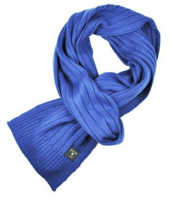Теплый мужской шарф Guess королевско-синего цвета