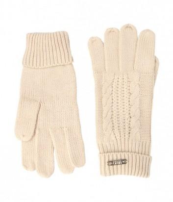 Теплые женские перчатки Liu Jo Sport T66129 бежевые