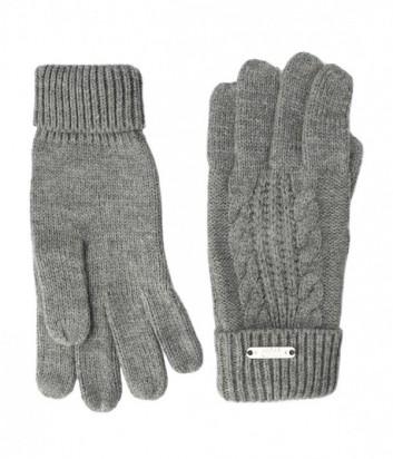 Теплые женские перчатки Liu Jo Sport T66129 серые