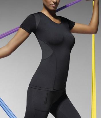 Эластичный спортивный топ Bas Bleu Fitness Electra черный