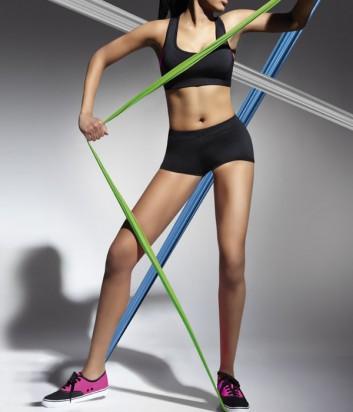 Эластичные спортивные шорты Bas Bleu Fitness Forcefit черные