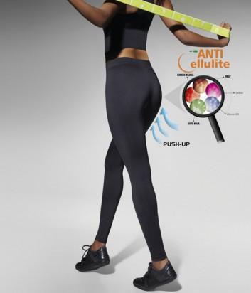 Спортивные леггинсы Bas Bleu Fitness Riley с push-up эффектом черные