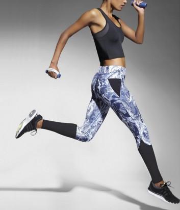 Эластичные спортивные леггинсы Bas Bleu Fitness Trixi с ярким принтом