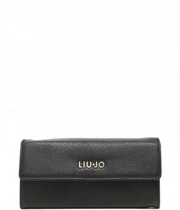 Женское горизонтальное портмоне Liu Jo Vulcano на кнопке черное