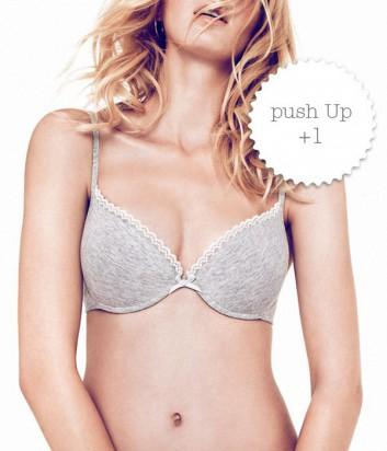 Бюстгальтер Gisela Sun 10303 с глубоким декольте и push-up +1 серый