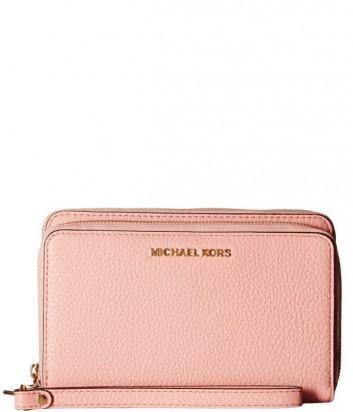 Женское портмоне Michael Kors Adele из мягкой кожи нежно-розовое