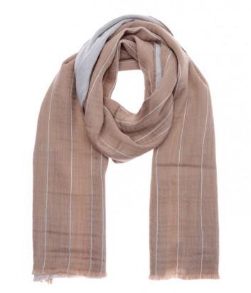 Женский шерстяной шарф Gian Franco Ferre классического дизайна бежевый