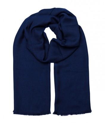 Женский теплый шарф Gian Franco Ferre с надписью бренда синий