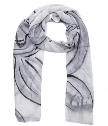 Элегантный женский шарф Gian Franco Ferre из шерсти серый