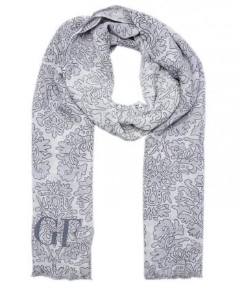 Женский теплый шарф Gian Franco Ferre с нежным рисунком серый