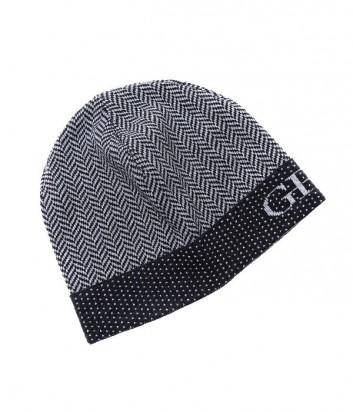 Теплая мужская шапка Gian Franco Ferre с узором елочка серая