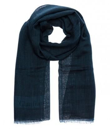 Женский шерстяной шарф Gian Franco Ferre классического дизайна зеленый