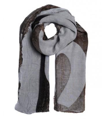 Женский теплый шарф 813 Ottotredici с рисунком коричнево-бежевый