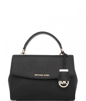 Средняя сумка Michael Kors Ava из сафьяновой кожи черная