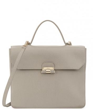 Большая сумка Furla Chiara 852655 из текстурной кожи светло-серая