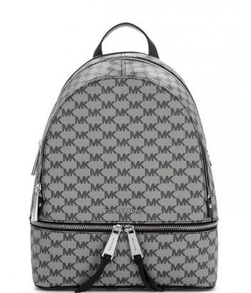 Большой женский рюкзак Michael Kors Rhea Zip с принтом темно-серый