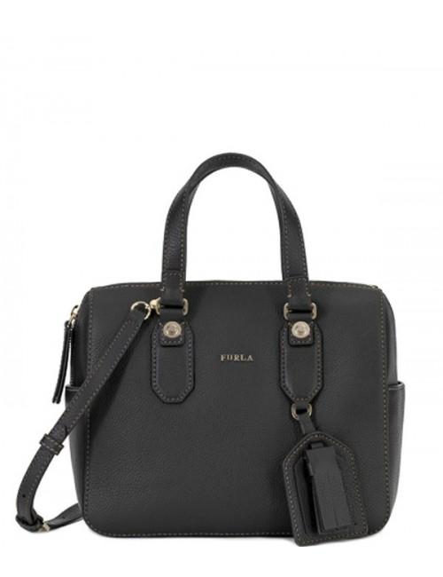 Женская сумка Furla Emma 870067 из мягкой текстурной кожи черная