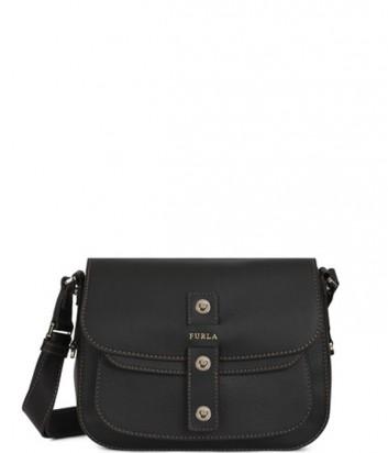 Женская сумка через плечо Furla Emma 852397 из текстурной кожи черная