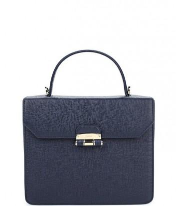 Средняя сумка Furla Chiara 852639 из текстурной кожи темно-синяя