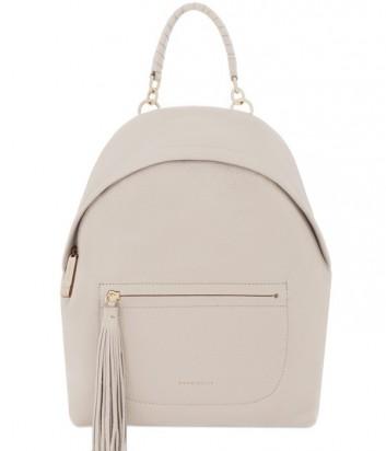 Большой женский рюкзак Coccinelle Leonie из мягкой кожи бежевый