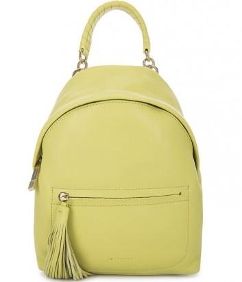 Большой женский рюкзак Coccinelle Leonie из мягкой кожи нежно-желтый