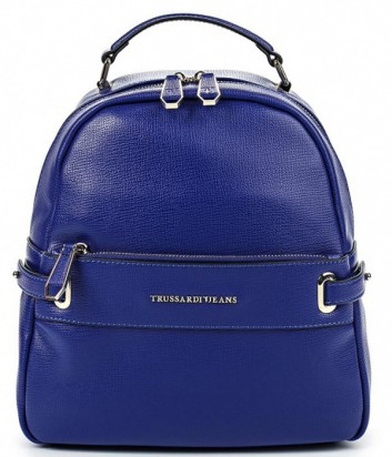 Стильный городской рюкзак Trussardi Jeans с внешним карманом синий