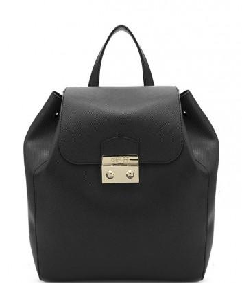 Стильный городской рюкзак Guess закрывается клапаном на замок черный