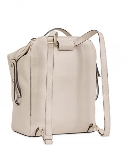 Стильный кожаный рюкзак Furla Dafne 869522 с внешним карманом бежевый