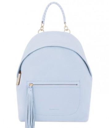 Большой женский рюкзак Coccinelle Leonie из мягкой кожи нежно-голубой