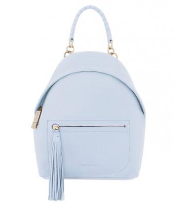 Женский рюкзак Coccinelle Leonie из мягкой кожи пастельно голубой