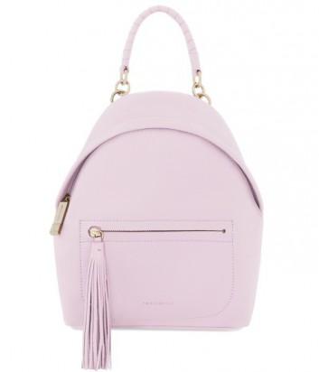 Женский рюкзак Coccinelle Leonie из мягкой кожи пастельно розовый