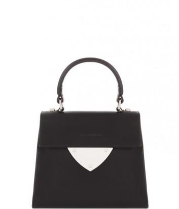 Маленькая сумка Coccinelle B14 из полированной кожи черная