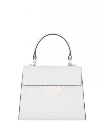 Маленькая сумка Coccinelle B14 из полированной кожи белая