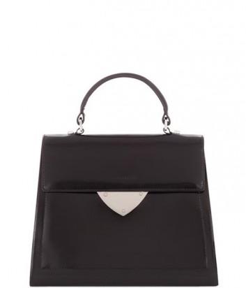 Роскошная сумка Coccinelle B14 из полированной кожи средняя черная