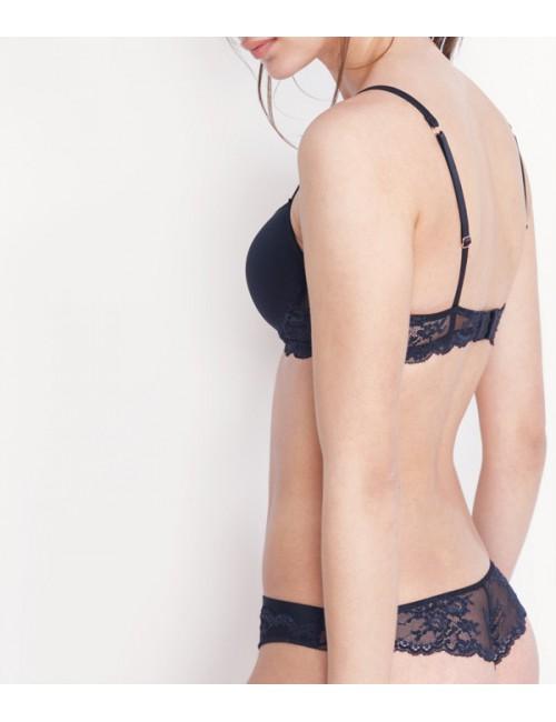Комплект нижнего белья Gisela 30115 с кружевными вставками черный
